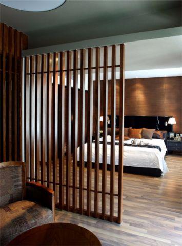 卧室隔断现代风格装潢效果图