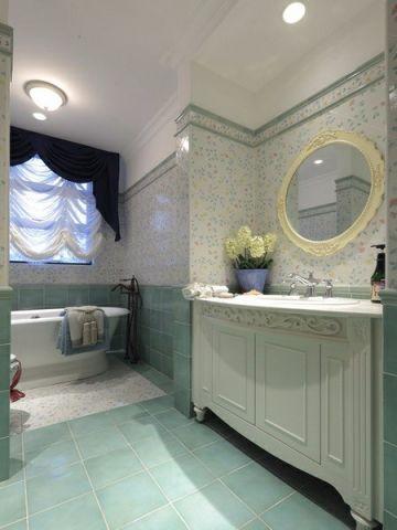卫生间窗帘地中海风格装饰效果图