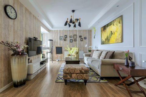 路德维希160平美式风格三居室装修效果图
