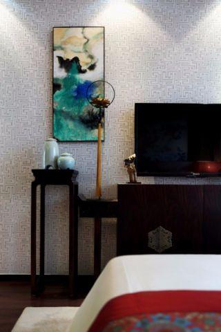 客厅电视柜新中式风格装潢图片