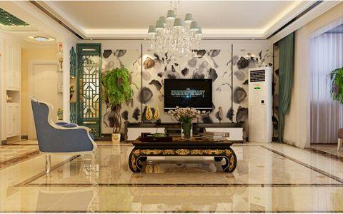9万预算136平米三室两厅装修效果图