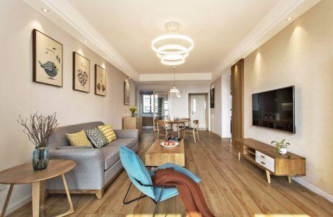 5万预算90平米两室两厅装修效果图