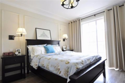 卧室窗帘美式风格装修效果图
