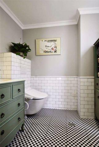 卫生间照片墙美式风格装潢效果图
