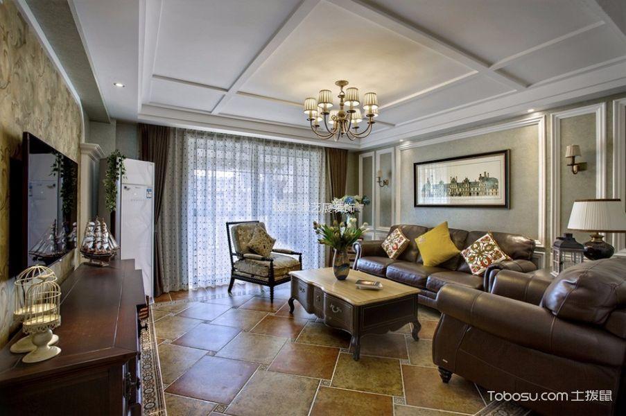北大资源阅城美式风格三居室装修效果图
