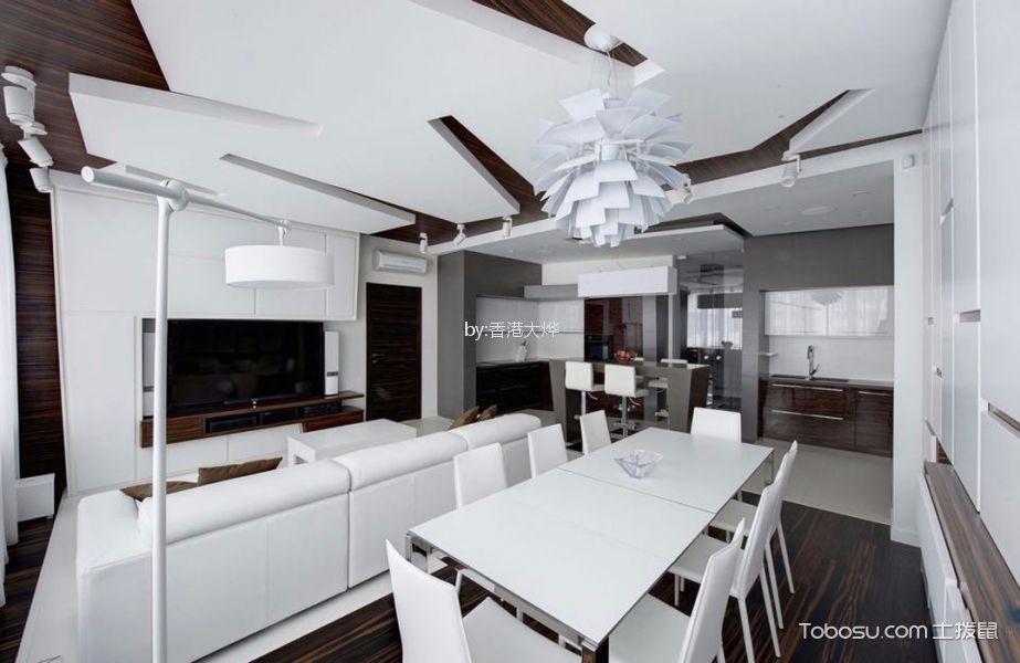 餐厅白色餐桌简单风格装饰效果图