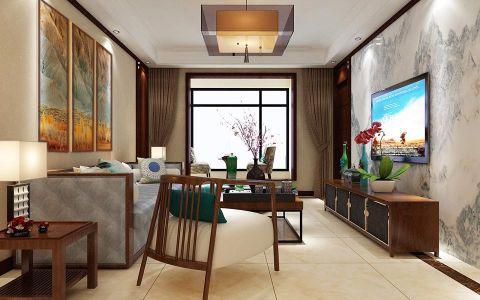 华新山居新中式复式楼装修设计案例