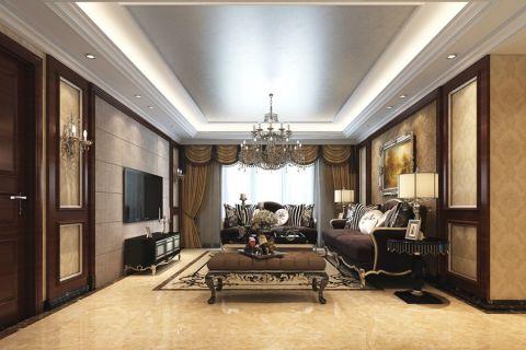 4.9万预算140平米四室两厅装修效果图