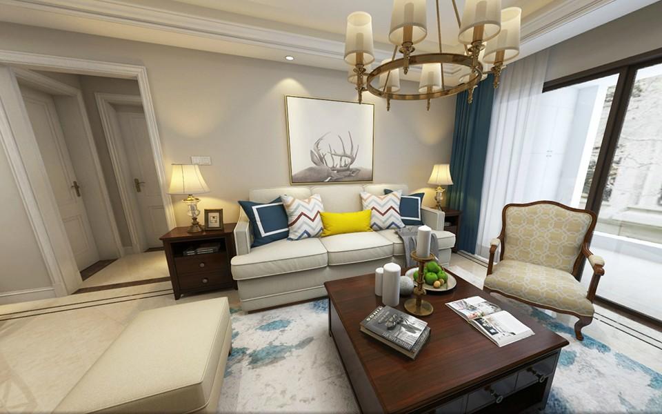 3室1卫2厅110平米简欧风格