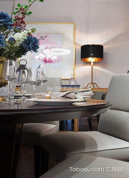 餐厅白色细节现代风格装潢效果图
