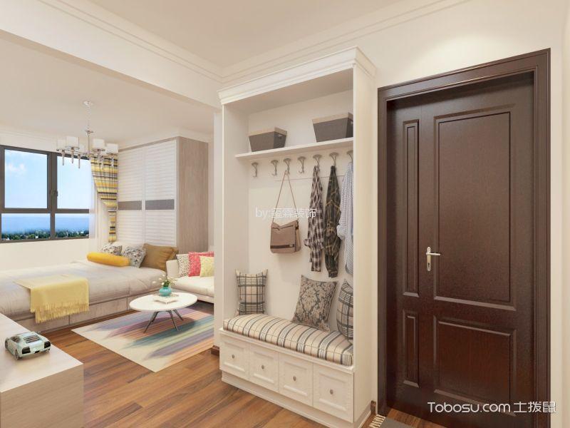 玄关白色鞋柜北欧风格装饰设计图片
