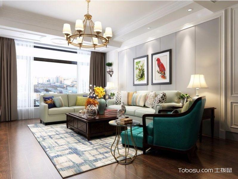 8万预算82平米两室两厅装修效果图