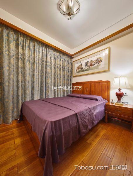 卧室黄色地板砖新中式风格装饰效果图