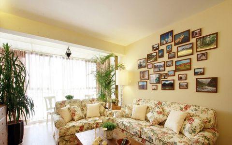 客厅照片墙田园风格装饰效果图