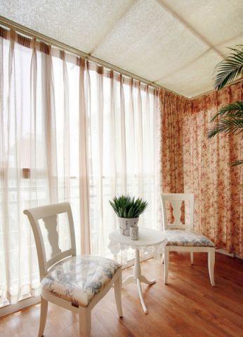 阳台窗帘田园风格装潢效果图
