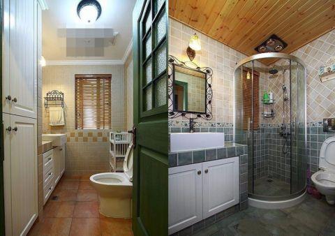 卫生间门厅田园风格装饰设计图片
