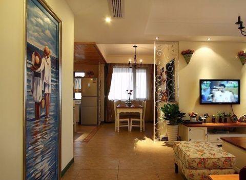 客厅背景墙田园风格效果图