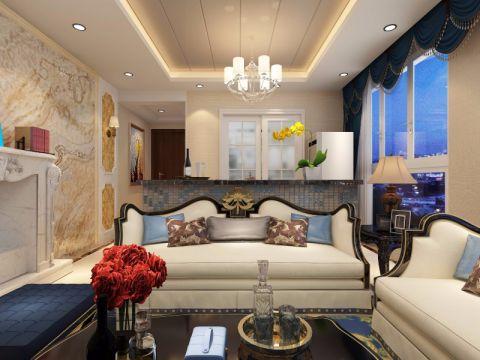 16万预算92平米三室两厅装修效果图