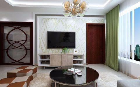 客厅背景墙现代简约风格装潢设计图片