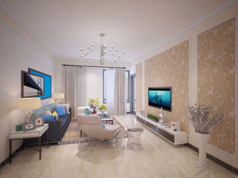 9万预算110平米两室两厅装修效果图