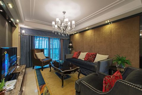 9万预算95平米三室两厅装修效果图