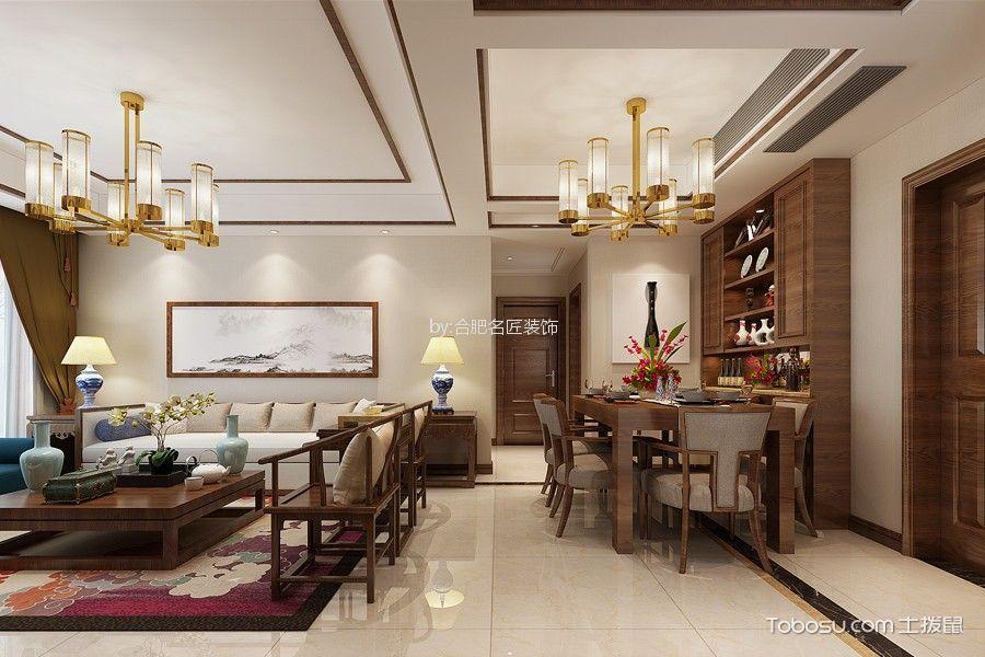 5.3万预算90平米三室两厅装修效果图