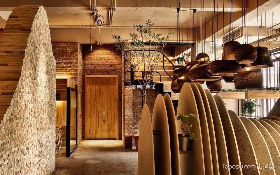 120平米咖啡厅玄关装饰设计图片
