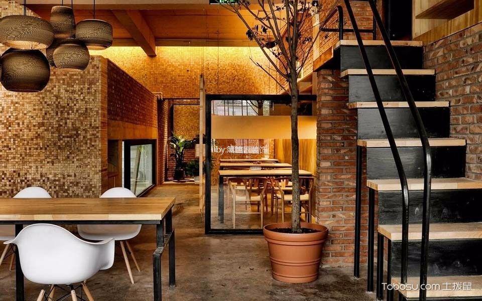 120平米咖啡厅楼梯装饰图