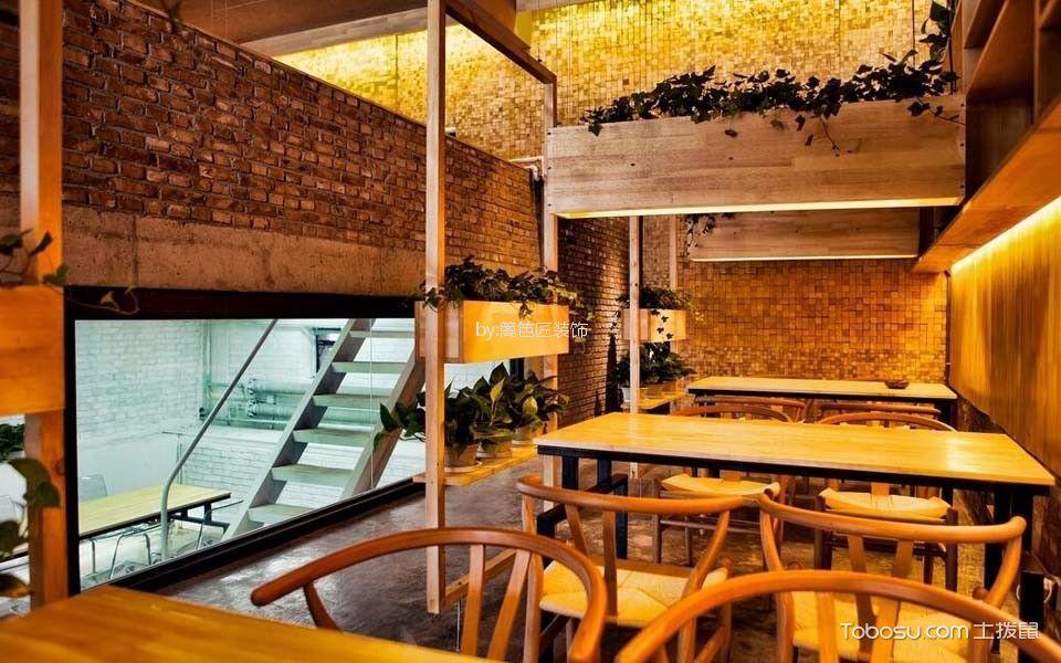 120平米咖啡厅阁楼餐桌装潢实景图片