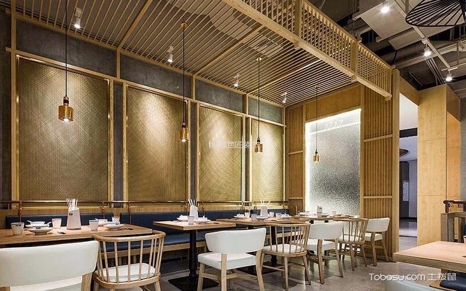 现代风格餐馆背景墙装修设计图片