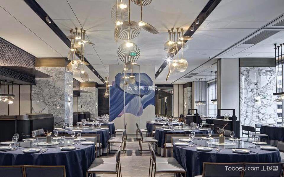 川式餐厅大厅装潢实景图