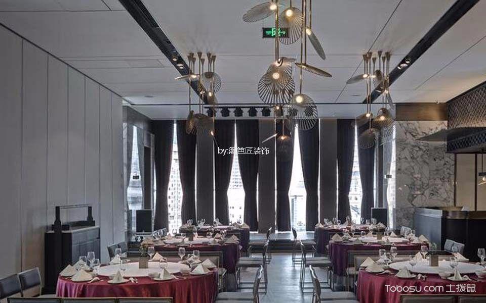 川式餐厅圆桌装饰效果图欣赏