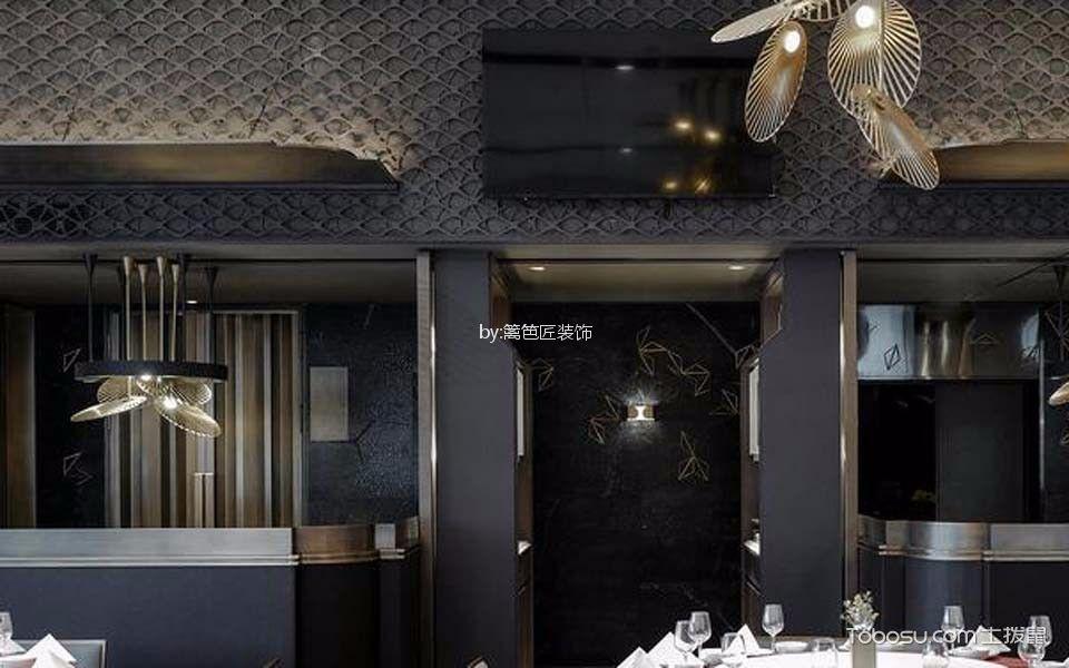 川式餐厅背景墙装修案例图片
