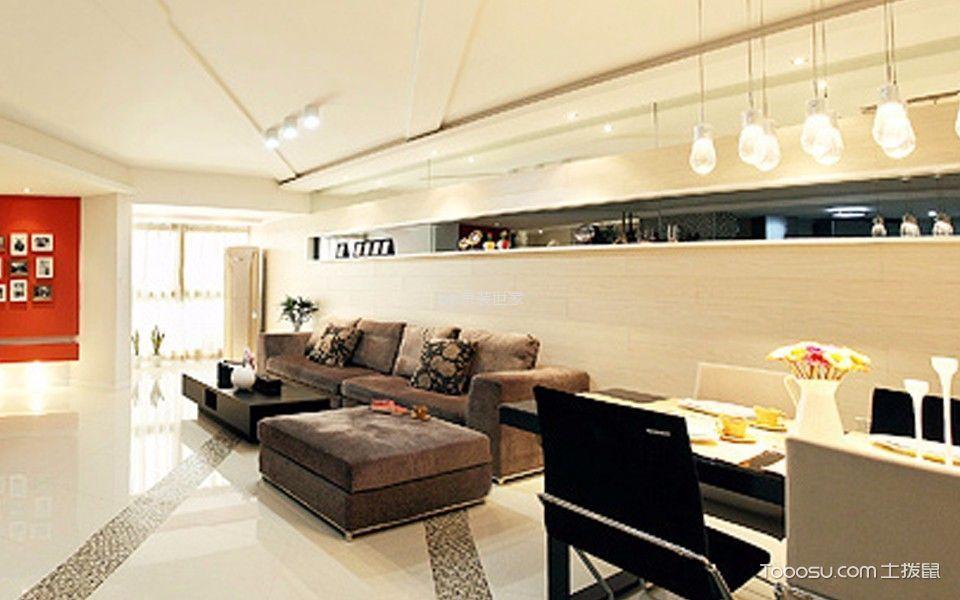 韩建雅苑106平两居室简约设计风格装修效果图