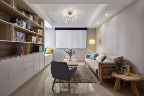 13万预算106平米两室两厅装修效果图