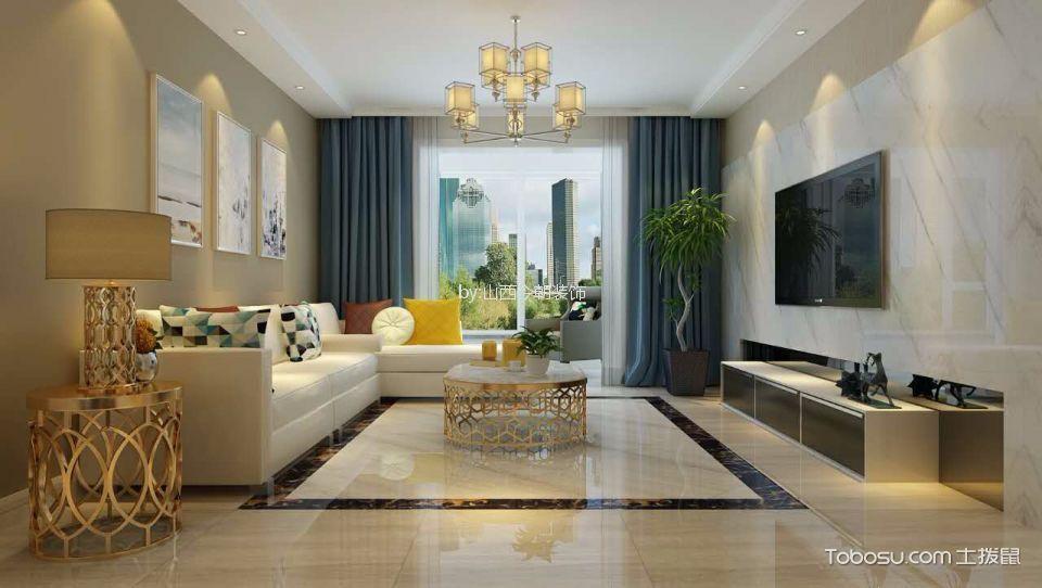 5万预算117平米三室两厅装修效果图