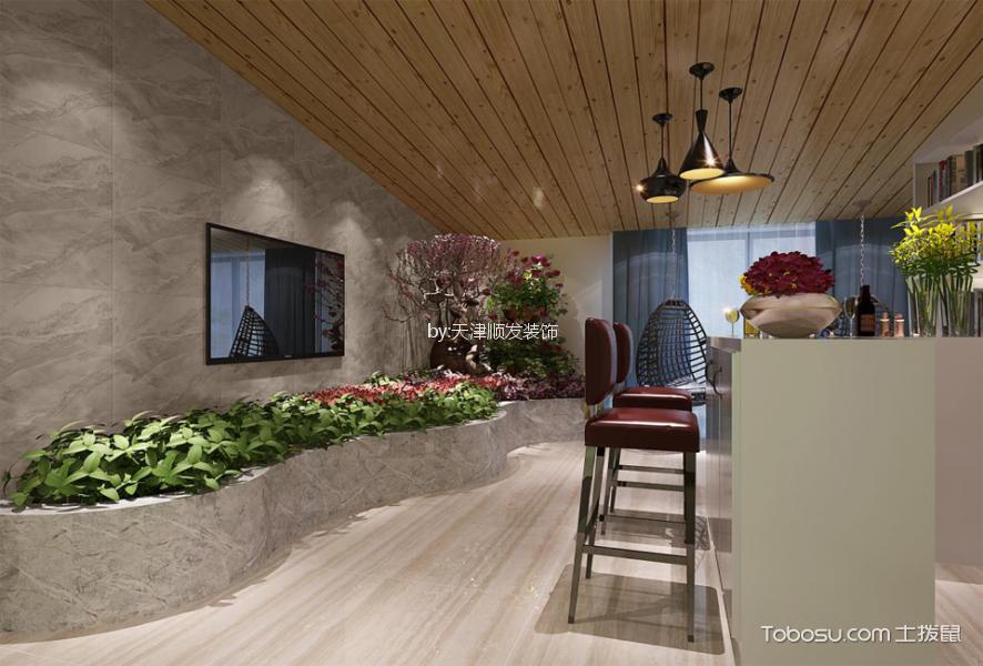 阳台米色地砖现代风格装潢设计图片