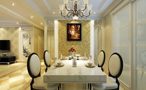 餐厅推拉门简欧风格装潢图片