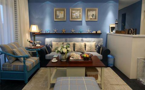 80平地中海风格二居室装修效果图