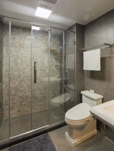 卫生间隔断现代风格装饰图片