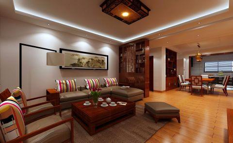 客厅照片墙中式风格装饰设计图片