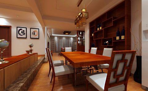 餐厅窗帘中式风格装修效果图