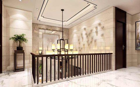 玄关楼梯新中式风格装潢效果图