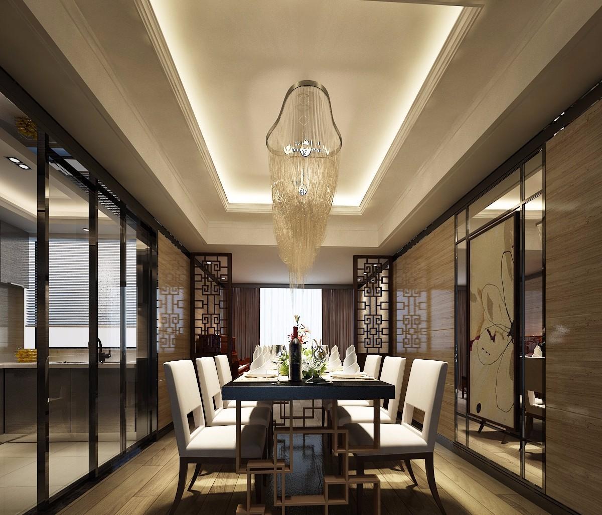 3室3卫2厅130平米新中式风格
