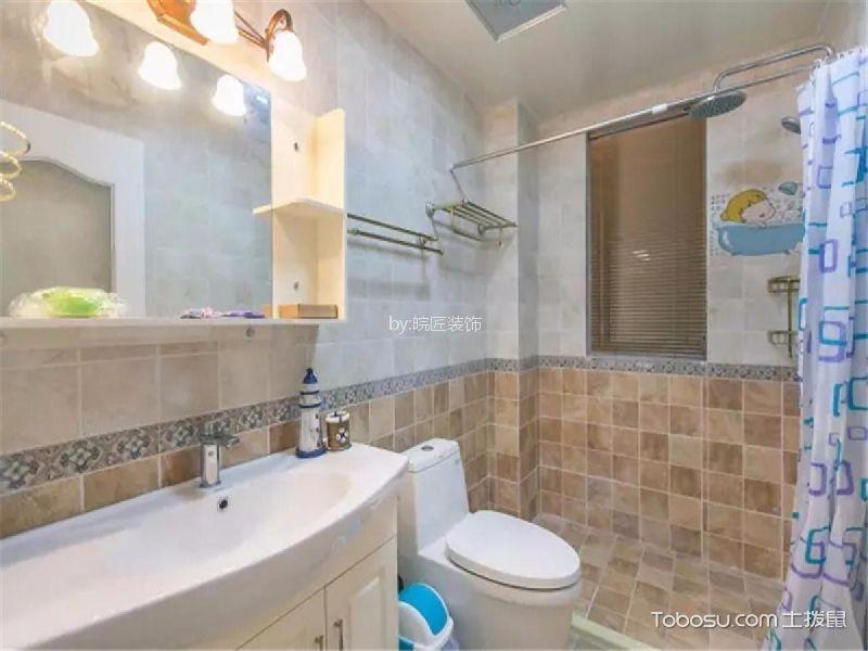 卫生间 洗漱台_8.2万预算110平米三室两厅装修效果图