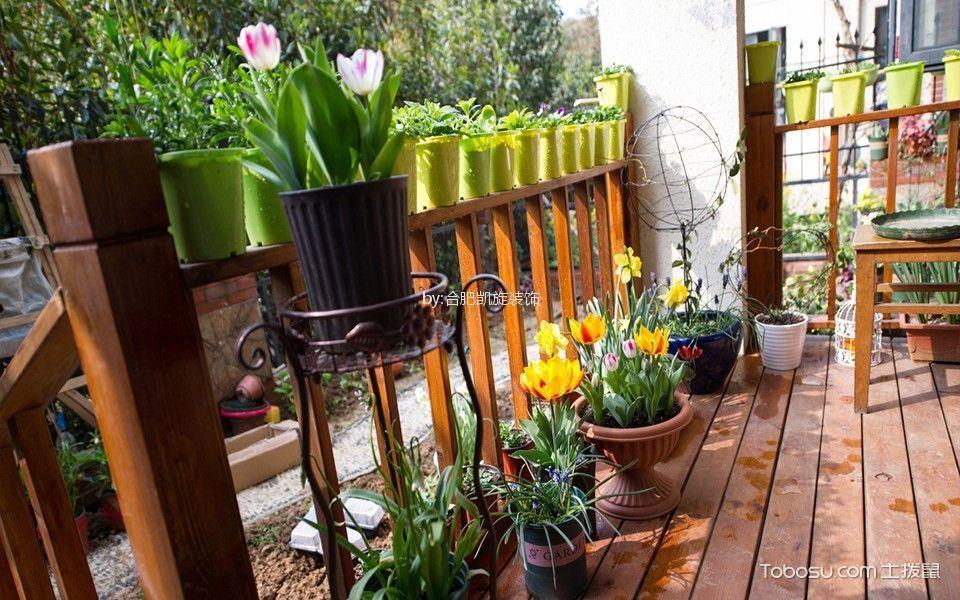 阳台咖啡色细节田园风格装修设计图片