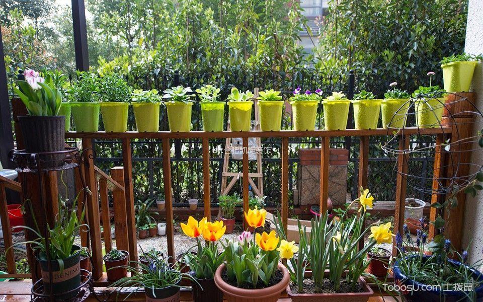 阳台咖啡色细节田园风格装潢设计图片