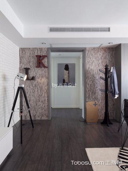 客厅咖啡色地板砖北欧风格装饰效果图