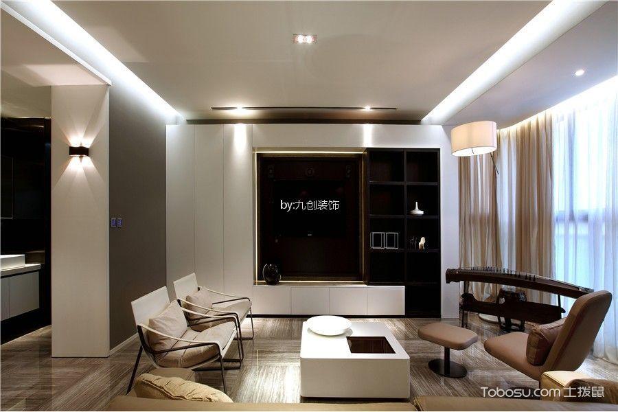 10.54万预算120平米三室两厅装修效果图