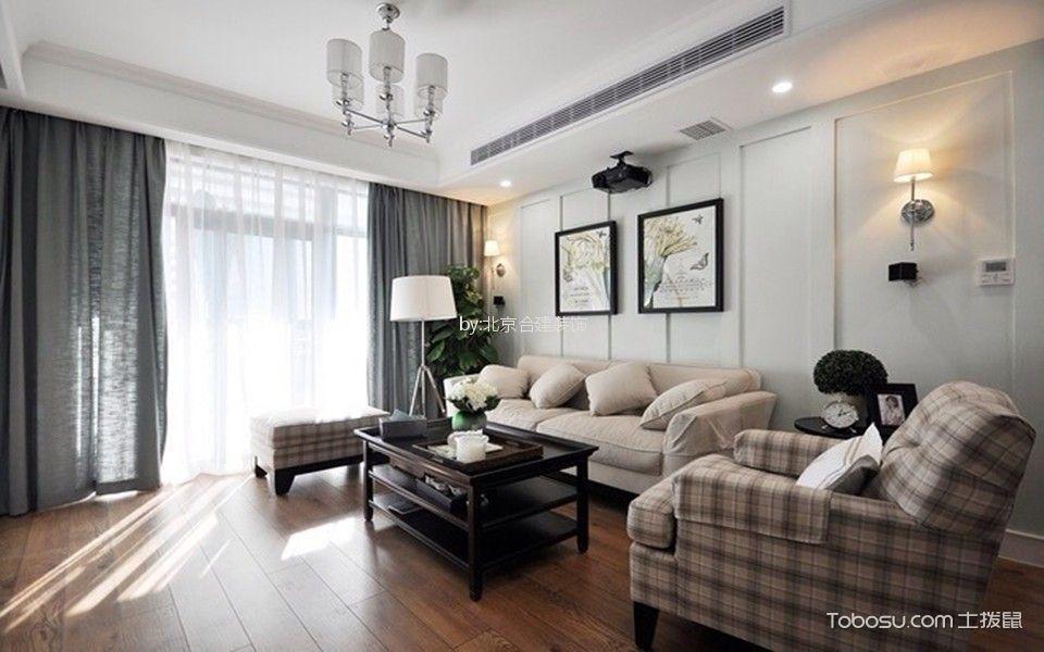 世纪新景130平三居室简美风格装修效果图